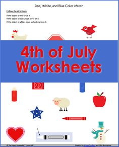 Free 4-page set of 4th of July Worksheets and Printables