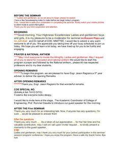 Emcee Script Motivational Speeches Emcee Success Criteria