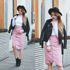 Get this look: http://lb.nu/look/8553183  More looks by Katarzyna Konderak: http://lb.nu/katepanth  Items in this look:  Skirt   #casual #elegant #street #pink #midi #skirt