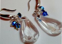 Swarovski Crystal Earrings by VirginiaCharm on Etsy, $33.00