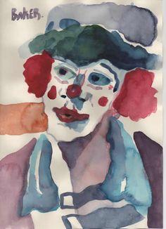 Clown art demonstrations to Art Societies