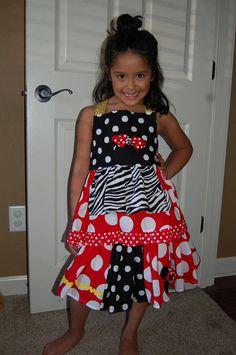 Miss Minnie Twirl Skirt by mindysinstitches on Etsy, $25.00