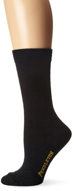 Pendleton Women's Solid Trouser Socks, Black, Medium(6-10). Smooth, flat knit for ultra-light comfort and year-round wear. Reinforced heel and toe for longer wear and durability. Our designers have added just the right amount of spandex to prevent slippage and ensure a consistent fit throughout the day.