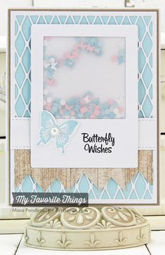 Winged Beauties, Blueprints 9 Die-namics, Dispersed Dots Die-namics, Fishnet Cover Up Die-namics, Flying Butterflies Die-namics, Insert It - InstaFrame Die-namics, Winged Beauties Die-namics - Mona Pendleton #mftstamps