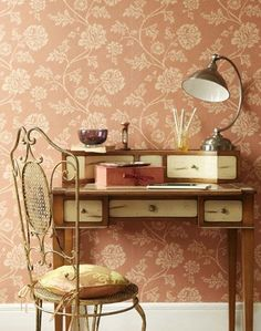 pretty desk and chair - cool wallpaper