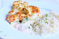 Rezepte mit Herz ♥: Putenschnitzel mit Mischgemüse & Champignons überbacken ♡