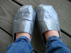 For Denise Mitchell: rofl Duct Tape Projects, Crafty Projects, Duct Tape Shoes, Boys Playing, Crafts, Ideas, Manualidades, Handmade Crafts, Craft