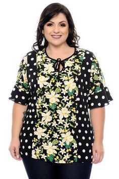 Blusas Plus Size Looks Plus Size, Plus Size Tops, Blouse Styles, Blouse Designs, Apple Shape Outfits, Plus Size Summer Fashion, Stylish Work Outfits, Big Girl Fashion, African Dress