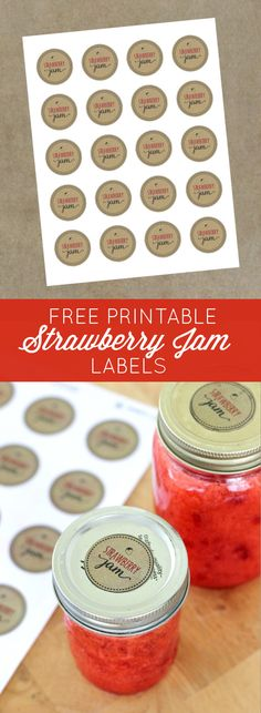 Finish off your favorite strawberry jam recipe with printable labels that add a professional and personal touch! Available as a FREE download from CreativeSavingsBlog.com