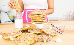 By Brogen   The Sweetest Treats and Little Escapes   Unicorn Cake Batter Cookies