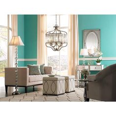 Stella Wide Soft Silver Crystal Chandelier in scene Rooms Home Decor, Living Room Decor, Dining Room, Bricks, Crystal Pendant, Silver, Turquoise, Interior Office, Interior Design
