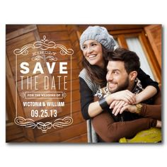 Rustic Overlay Save The Date Announcement Postcard Wedding Color Schemes, Wedding Colors, Rustic Save The Dates, Maybe One Day, Save The Date Postcards, Blue Bridesmaid Dresses, Announcement Cards, Postcard Size, Happily Ever After