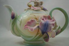 Franz porcelain iris teapot