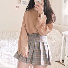 Look at this Fashionable korean fashion outfits Korean Fashion Trends, Korean Street Fashion, Korea Fashion, Asian Fashion, Kawaii Fashion, Cute Fashion, Modest Fashion, Look Fashion, Short Girl Fashion