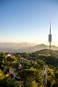 Apartments in Barcelona;  Excursions in Barcelona, Costa Brava & Catalunya; Barcelona Airport Private Arrival Transfer. Vacations in Barcelona; Holidays in Barcelona. Only positive feedback from tourists. http://barcelonafullhd.com/transfer-from-barcelona-airport/ http://www.barcelonawow.com/en/transfer Tibidabo view of  the Torre (Tower) Collserola, Barcelona, Catalonia