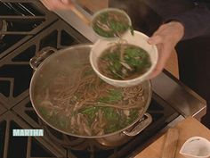 Soba Soup with Spinach - Martha Stewart Recipes