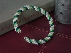 A peyote stitch bangle