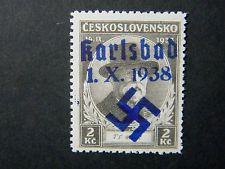 Local Deutsches Reich WW II Sudetenland Occup overprint Karlsbad Mi