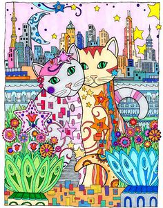 Drawing by Marjorie Sarnat from her Book Creative Cats