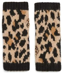 kate spade new york leopard arm warmers Fingerless Gloves, Arm Warmers, Kate Spade, Arms, Nordstrom, York, Patterns, Knitting, Crochet