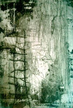 """Not a painting but inspires a painting - Print by Mireia Rosich. """"Les escaliers"""" Etching and dry point"""
