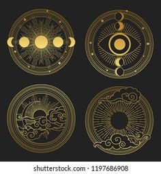 Illustration Vector, Illustrations, Fractal, Tatoo Art, Sacred Geometry, Geometry Art, Stars And Moon, Sun Moon, Moon Art