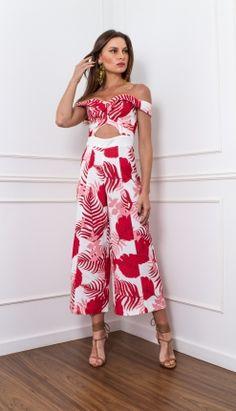 MACACÃO ABERTURA FRENTE - MAC28175-LD   Skazi, Moda feminina, roupa casual, vestidos, saias, mulher moderna