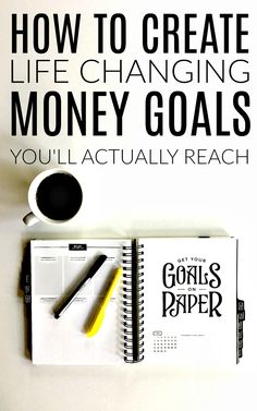 How to set financial goals (you can actually reach! Ways To Save Money, Money Tips, Money Saving Tips, Money Budget, Saving Ideas, Budgeting Finances, Budgeting Tips, Financial Goals, Financial Peace