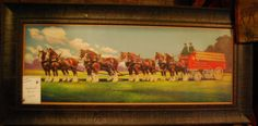 Budweiser Horse Print available at Cabin Creations in Phillips, WI. www.cabincreationswi.com