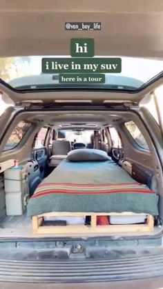 van_boy_life on Instagram: . No van, no problem ... if you want to travel and live on the road, there's still options to save some cash💰 🚐 2005 Toyota Sequoia 📸… Living On The Road, Van Living, Boys Life, Van Life, Toyota, Tours, Train, Mood, Instagram
