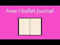 how i bullet journal - YouTube