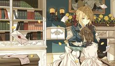 These desktop themes delve in to the world of Violet Evergarden. The Japanese Anime World, Violet Ever garden, the novel series, now available as a wallpaper to your PC device. Violet Evergarden Wallpaper, Wallpaper Backgrounds, Wallpaper Wallpapers, Manga Art, Manga Anime, Anime Art, Howl's Moving Castle, Violet Evergreen, Violet Garden