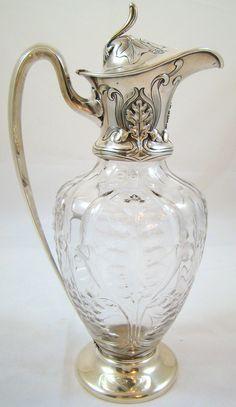 4 Vintage Crystal Wine Glasses Etched Flowers Libbey Vintage Stemware Vintage Glasses