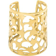 KGS Design Illusion One Gold Cuff ($5,160) ❤ liked on Polyvore featuring jewelry, bracelets, accessories, yellow gold cuff bracelet, cuff bangle, 18k gold jewelry, cuff charm bracelet and gold jewelry