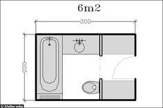 Surface de 6m² : une salle de bains esprit dressing - 18 plans de salle de bains de 5 à 11 m² - CôtéMaison.fr