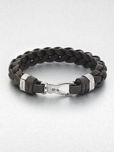 Tod's Men's leather bracelet.