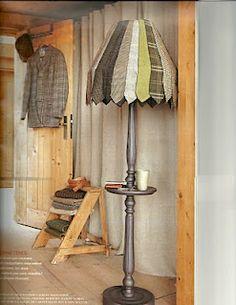 Lamp shade made from ties