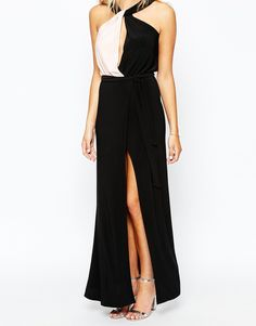 Image 3 of Love Maxi Dress With Twist Neck