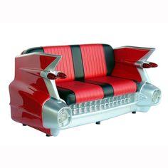 1959 Cadillac Car Sofa Couch Settee- Red  #decor #lmtreasures #figurines #prop #lifesizestatue #prophouse #november #proprental #homedecor #yarddecor