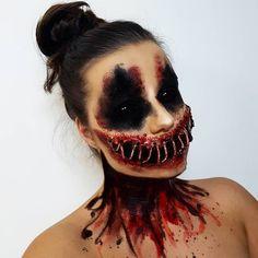 Makeup Looks Halloween Scary 52 Ideas Creepy Halloween Makeup, Zombie Makeup, Halloween Makeup Looks, Scary Makeup, No Eyeliner Makeup, Halloween Make Up, Halloween Ideas, Sfx Makeup, Halloween Costumes