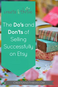 Do's and don'ts of selling successfully on Etsy - from a top Etsy seller! Selling Handmade Items, Handmade Shop, Handmade Products, Starting An Etsy Business, Stuff To Do, Things To Sell, Etsy Seo, Creative Business, Business Tips