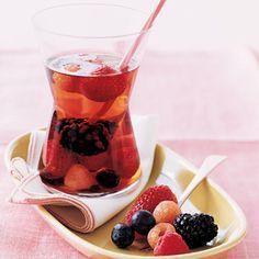 Hoje para jantar ...: Sangria de Champanhe e Frutos Vermelhos