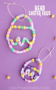 Pipe Cleaner Bead Easter Egg Craft for Kids - Crafty Morning