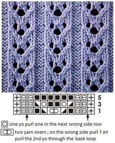 ajour / lace knitting ajour / lace knitting Knitting , lace processing is just about the most beautiful hobbies that women can not give up. Lace Knitting Stitches, Lace Knitting Patterns, Knitting Charts, Knitting Designs, Free Knitting, Knitting Projects, Stitch Patterns, Knitting Machine, Lace Patterns