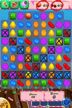 Candy Crush Saga Cheats Ingredient Levels - Candy Crush Saga guide for challenging ingredient levels. In a Candy Crush ingredient level you must bring down the special ingredients to the bottom of the screen to make them disappear. This Candy Crush Saga Guide will help you with Candy Crush hints and tips to get rid of these bothersome fruits on your board!