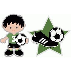 Silhouette Design Store - View Design soccer boy with cleats and star Soccer Birthday Parties, Soccer Party, Sports Party, Soccer Theme, Soccer Boys, Silhouette Online Store, Cute Clipart, Bunting Banner, Star Designs