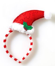 Love this Red Santa Hat Mistletoe Headband on #zulily! #zulilyfinds