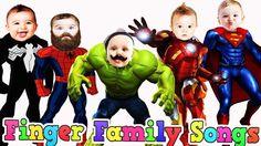 Superhero Little Babies Finger Family Spiderman Collection Nursery Rhyme...