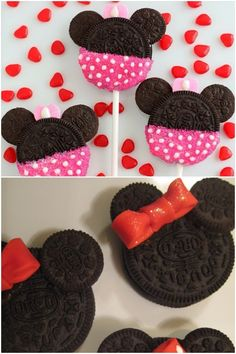 Minnie Mouse Oreo Cookies..