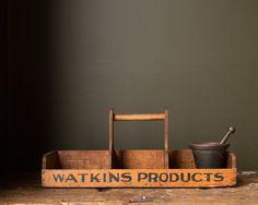 Vintage Original 1920's Watkins Wooden Salesman by MDQualityGoods